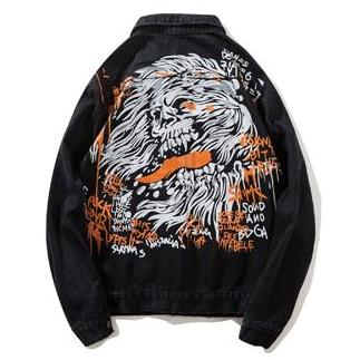 """Dungeon Keeper"" Denim Jacket - DISXENT STREETWEAR"