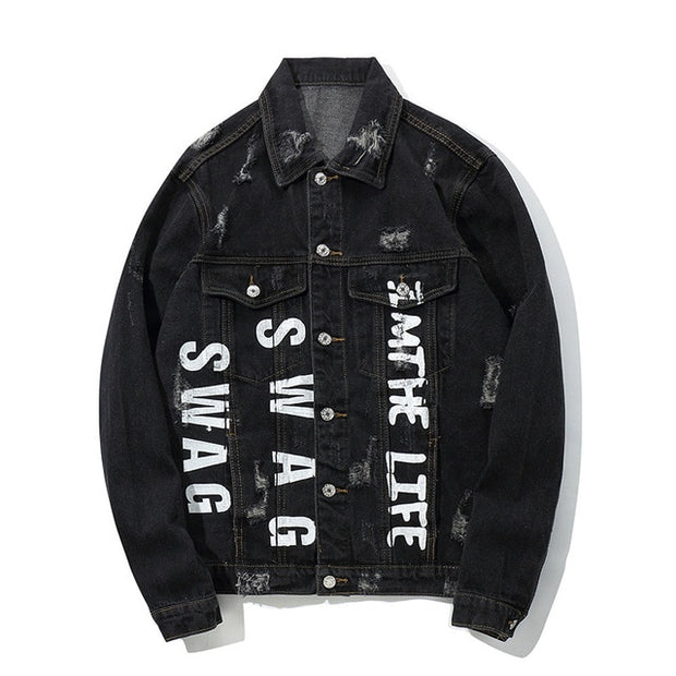 """Swag"" Denim Jacket - DISXENT"