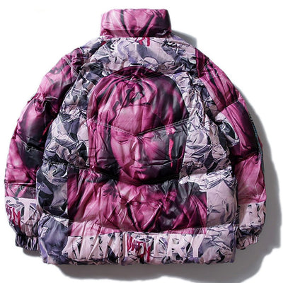 """Virgin Mary"" Winter Parka - DISXENT STREETWEAR"