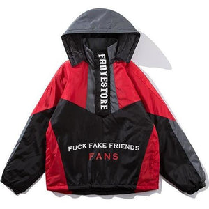 """Fuck Fake Friends"" Windbreaker - DISXENT"