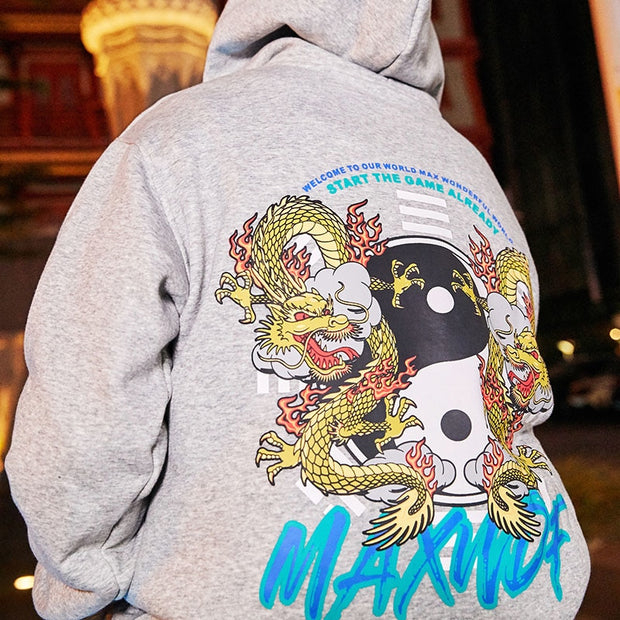 """2Dragons"" Hoodie - DISXENT STREETWEAR"