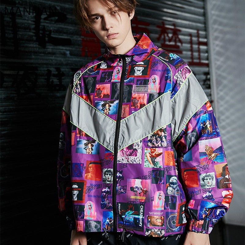 """Icons"" Windbreaker Jacket - DISXENT"