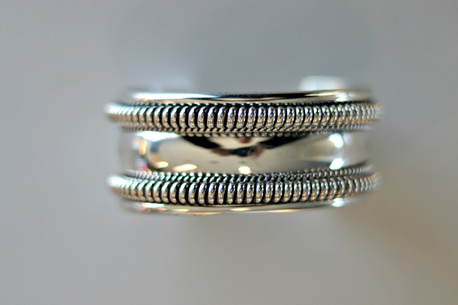 Native American Tahe Sterling Silver Cuff Bracelet