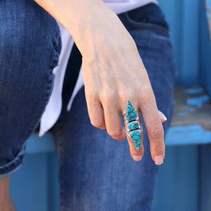 Native American Kingman Turquoise Sterling Silver Ring