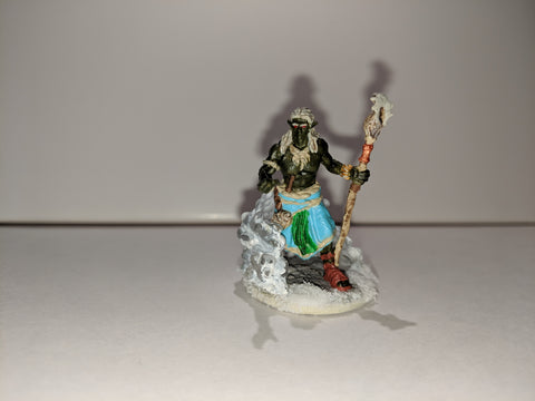 Painted Ice Elf Wizard Miniature