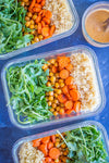 Meal Prep Roasted Carrot & Chickpea Salad