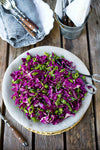 Snap Pea Cabbage Slaw