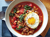White Bean and Veggie Bowl with Frizzled Eggs