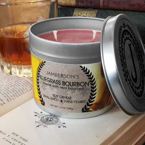 Large Handmade Bourbon Soy Candle