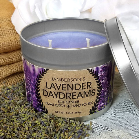Large Handmade Essential Oil Soy Candle