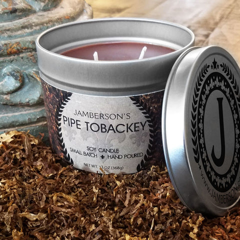 Pipe Tobacco Soy Candle 13 oz - Jamberson