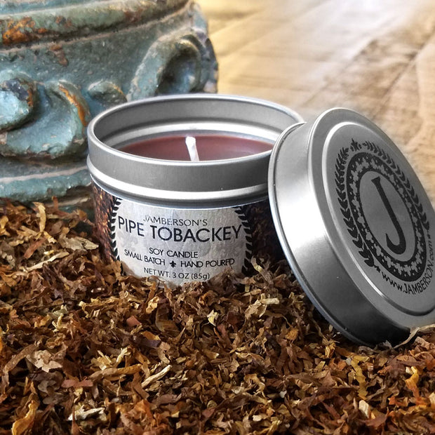 Pipe Tobacco Soy Candle 3 oz 1
