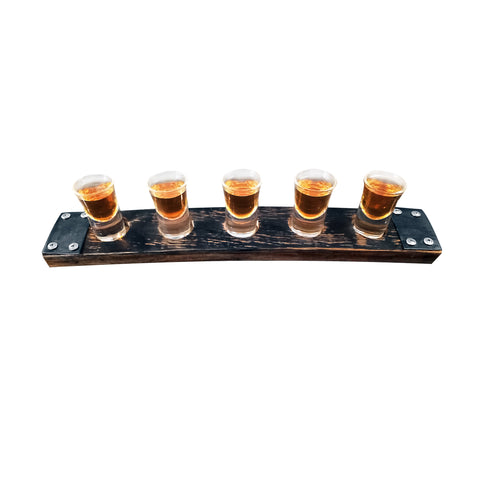 Bourbon Barrel Stave Shot Flight