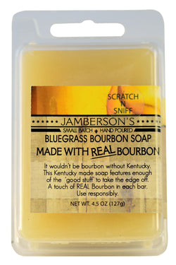 Bourbon soap made with a splash of real bourbon.