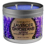 Soy candle scented with Lavender Essential Oil and others.