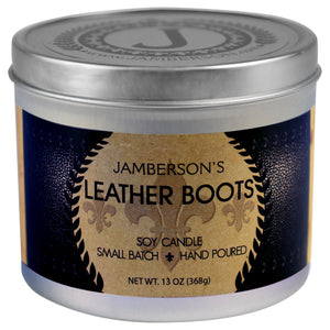 Leather Boot Soy Candle 13 oz