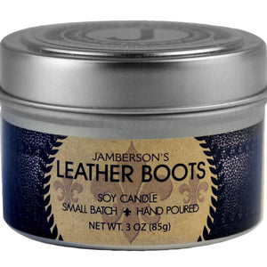 Leather Boot Soy Candle 3 oz