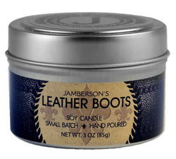 Leather Boots Soy Candle. Smells just like leather!