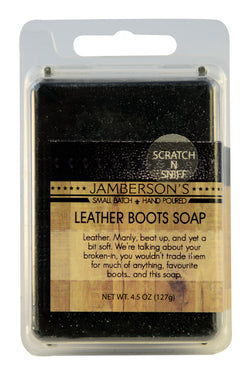 Leather soap that smells like real leather.