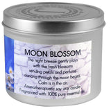 Soy candle scented with mint and floral essential oils.