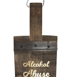 Alcohol Abuse Decorative Paddle