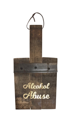Alcohol Abuse decorative paddle.