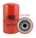 (6 PACK) B7121 BALDWIN OIL FILTER LF3817 a065