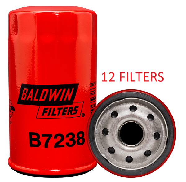 (CASE OF 12) B7238 BALDWIN OIL FILTER LF16165 a210