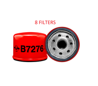 (8 PACK) B7276 BALDWIN OIL FILTER LF17508 for Arctic Cat Polaris Gravely Kohler Hustler a011