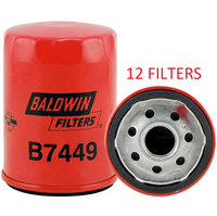 (CASE OF 12) B7449 BALDWIN OIL FILTER LF17531 a077