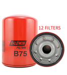 (CASE OF 12) B75 BALDWIN OIL FILTER LF3547 LF3328 a058