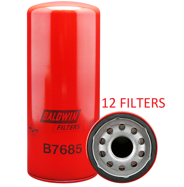 (CASE OF 12) B7685 BALDWIN OIL FILTER LF3654 a061