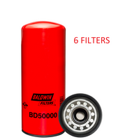 (CASE OF 6) BD50000 BALDWIN OIL FILTER LF14000NN CUMMINS ISX ISM QSX QSM  a040