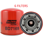(6 PACK) BD7169 BALDWIN OIL FILTER LF3807 Chevrolet GMC Isuzu Tiltcab a062