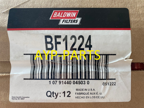 (CASE OF 12) BF1224 BALDWIN FUEL FILTER FF5301 Carrier Transicold Refrigeration Units a028