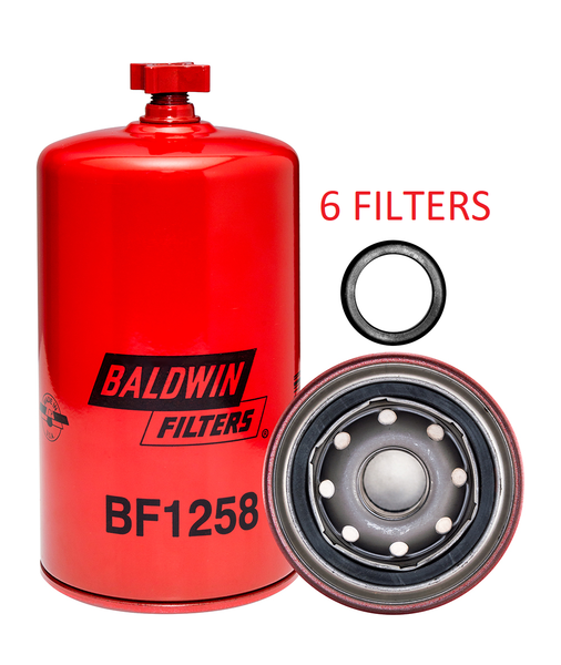 (6 PACK) BF1258 BALDWIN FUEL FILTER FS1001 a178