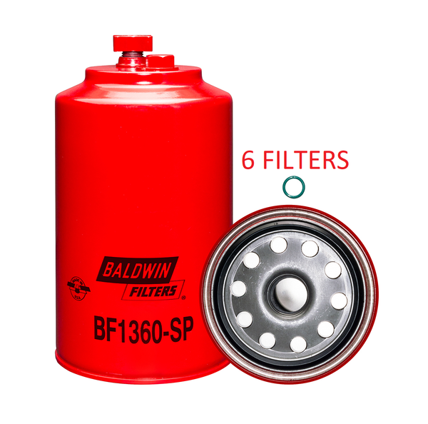 (6 PACK) BF1360-SP BALDWIN FUEL FILTER FS20028 Hino Mercedes Nissan Blue Bird Hino Mercedes Nissan a287