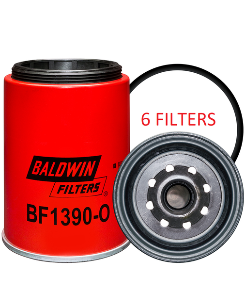 (6 PACK) BF1390-O BALDWIN FUEL FILTER FS19551 a186