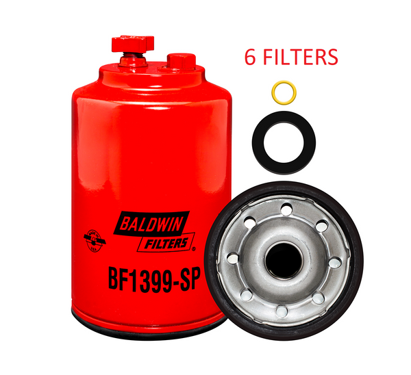 (6 PACK) BF1399-SP BALDWIN FUEL FILTER FS20007 Caterpillar Excavators Graders a286