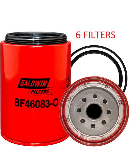 (CASE OF 6) BF46083-O BALDWIN FUEL FILTER FS19532 a164