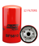 (CASE OF 12) BF5810 BALDWIN FUEL FILTER FF5206 Detroit Diesel Engines a064