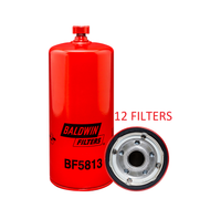 (CASE OF 12) BF5813 BALDWIN FUEL FILTER FS19513 Caterpillar Detroit Diesel Freightliner a354