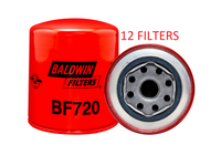(CASE OF 12) BF720 BALDWIN FUEL FILTER FF5089 Caterpillar Kobelco Mitsubishi a089