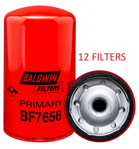 (CASE OF 12) BF7656 BALDWIN FUEL FILTER FF5381 for Mack 12L E-Tech Engine a112