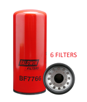 (6 PACK) BF7766 BALDWIN FUEL FILTER FF2200 Cummins ISX Engines a156