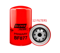(CASE OF 12) BF877 BALDWIN FUEL FILTER FF172 for Mack Trucks a232
