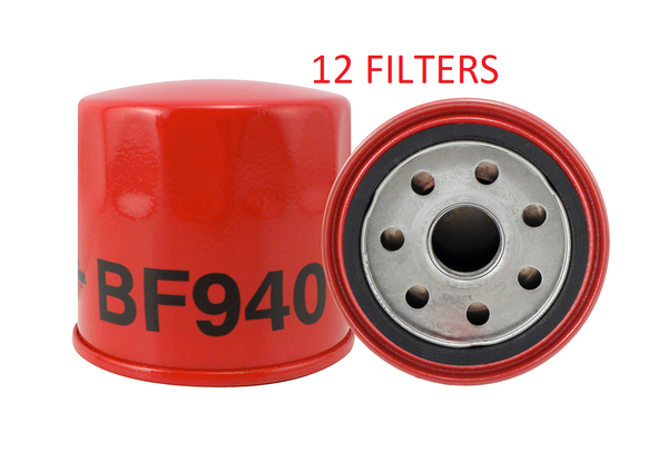 (CASE OF 12) BF940 BALDWIN FUEL FILTER FF42003 FF5226 John Deere Kubota Yanmar a310