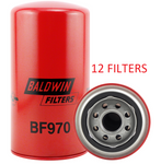 (CASE OF 12) BF970 BALDWIN FUEL FILTER FF185 a078
