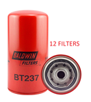 (CASE OF 12) BT237 BALDWIN OIL FILTER LF699 Carrier Case Caterpillar JCB Massey-Ferguson a035