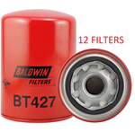 (CASE OF 12) BT427 BALDWIN OIL FILTER LF3345 Cummins 4B 4BT 4BTA 3.9L Engines a022